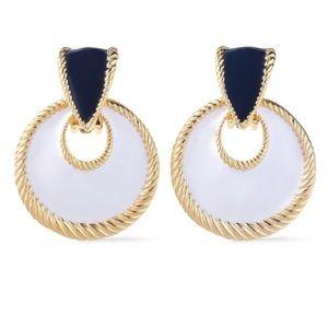 Ben-Amun 24K Gold Plated Enamel Clip Earrings